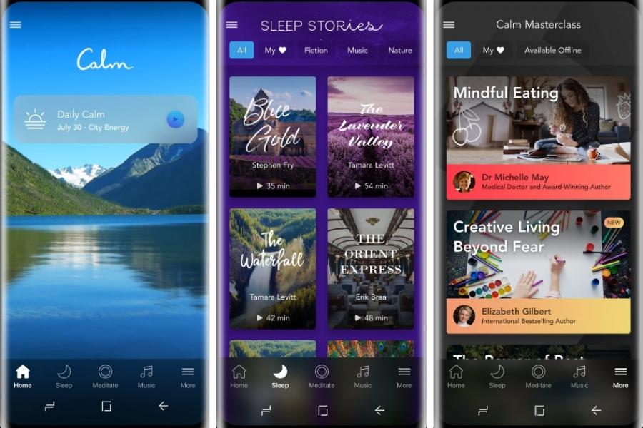 Calm app functionalities