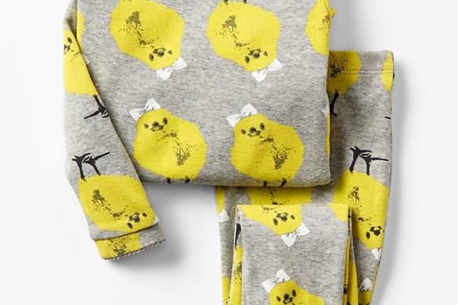 Grey pyjamas with chick motif