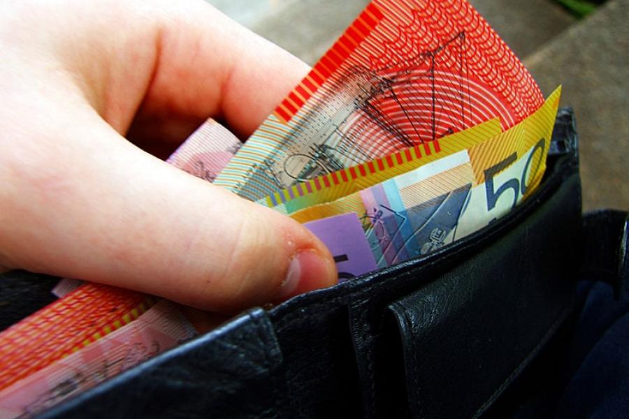 Australian notes in wallet