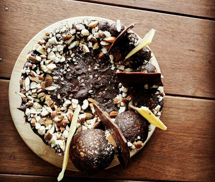 Image of Cave Culture raw vegan snickers cake
