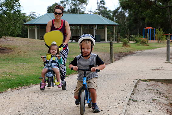 Getting your daily exercise with a toddler or two in tow