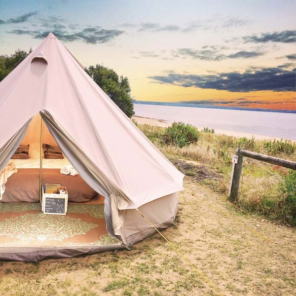 Image of Glamping tent at Phillip Island